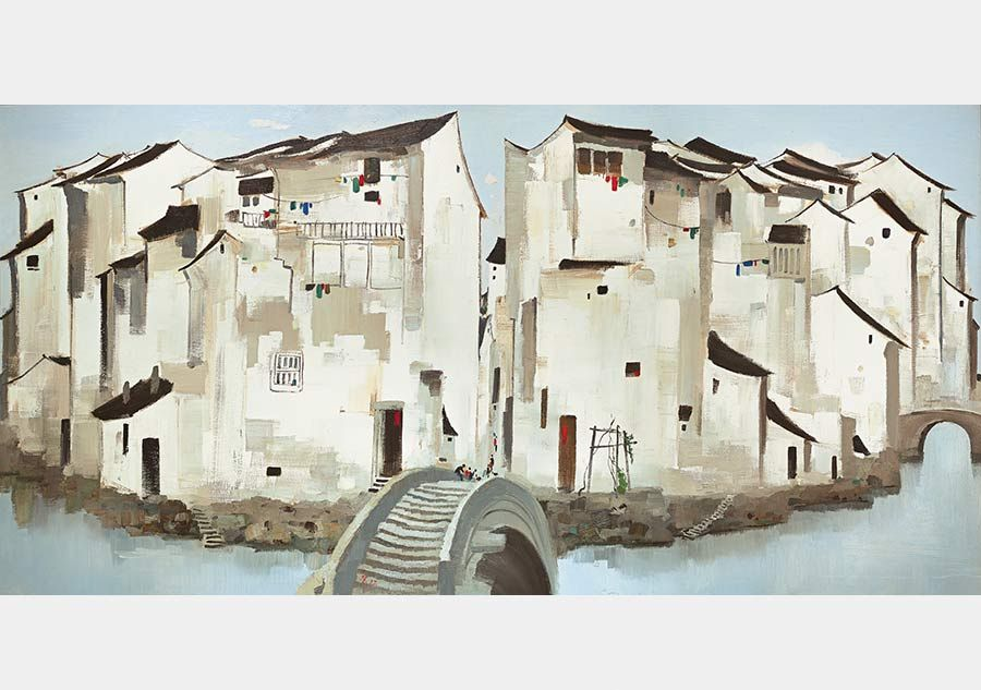 Zhouzhuang water town viewed through artistic eyes