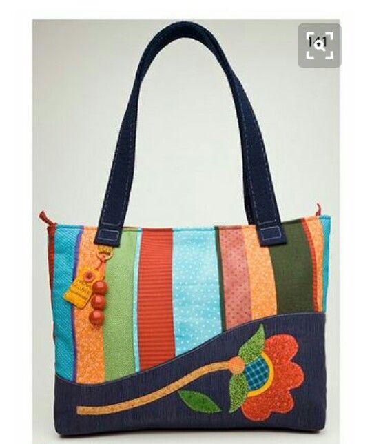 Fabric Bags Patchwork Quilted Bag Denim Craft Diy