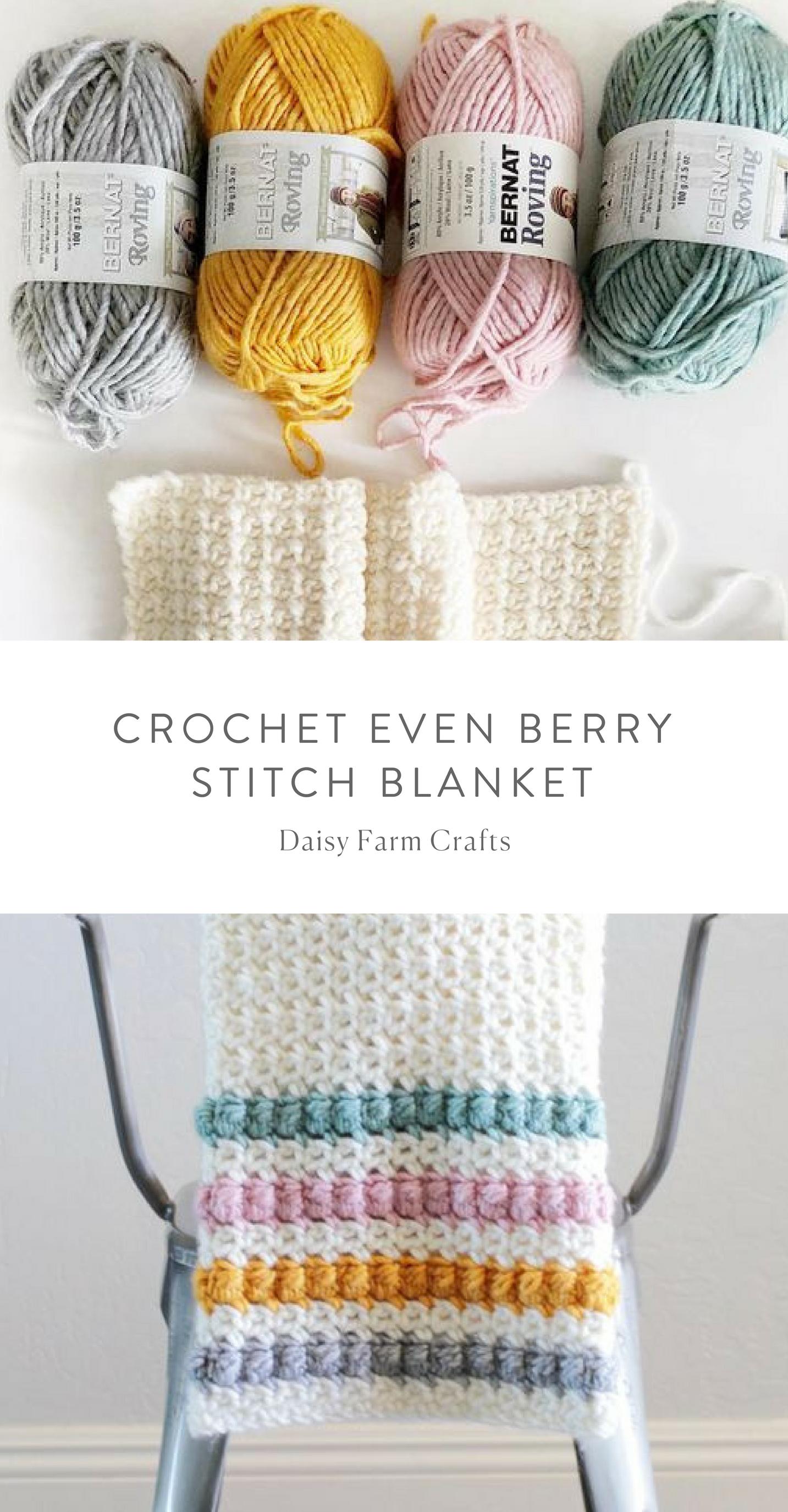 Free Pattern - Crochet Even Berry Stitch Blanket #crochet | Knits ...