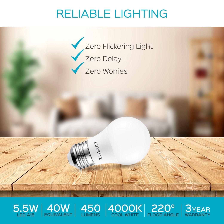 Luxrite A15 Led Light Bulb 40w