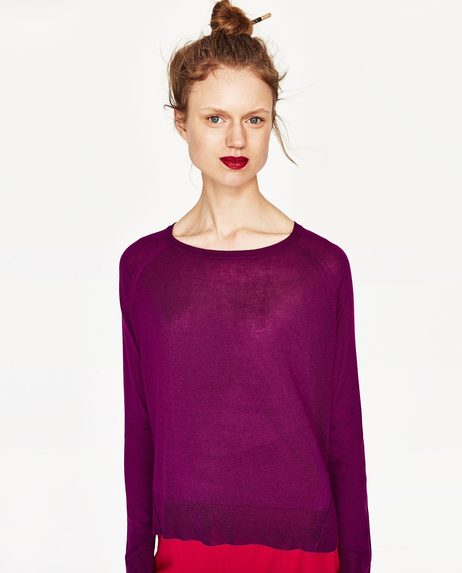 d80188ed88 SWEATER WITH SIDE SLITS DETAILS 1