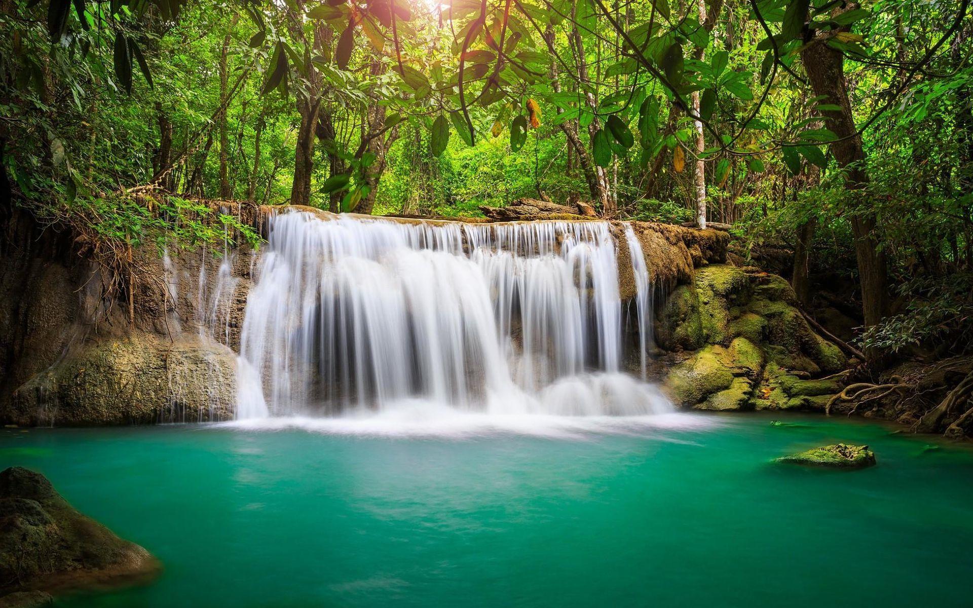 Beautiful Hidden Jungle Waterfall Desktop Wallpaper Waterfall Wall Waterfall Wallpaper Waterfall Wall Art
