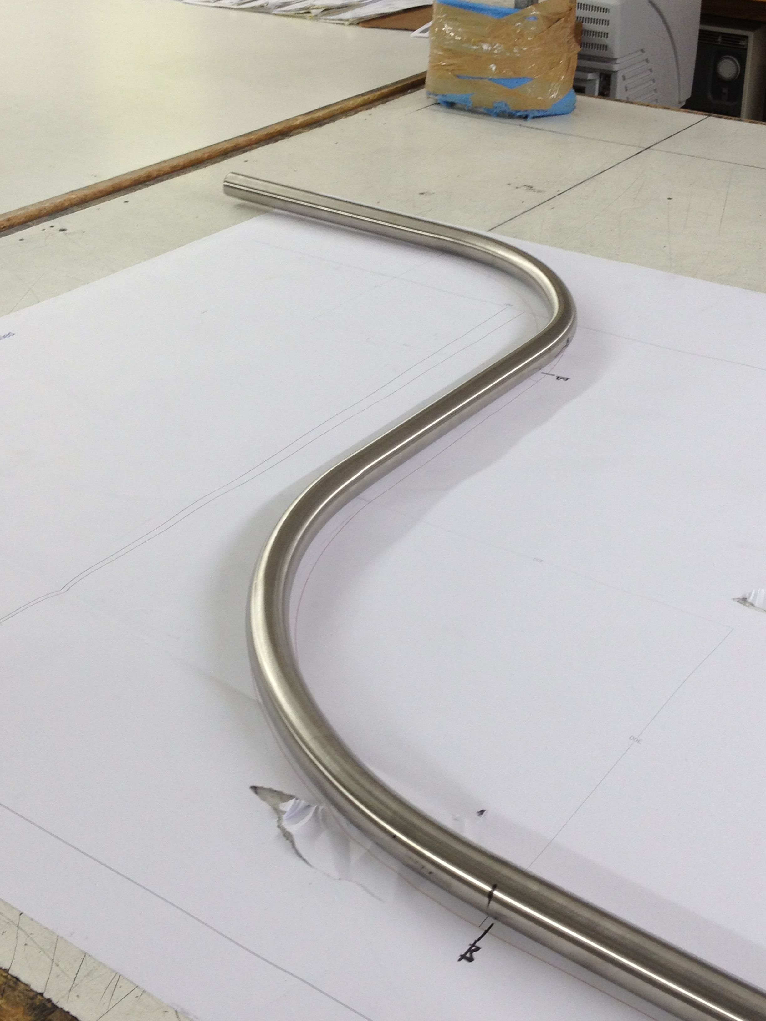 A 30mm Bradbury Pole In The Process Of Being Bent For A 90 Degree Square Bay With Reverse Bends Curtain Rails Curtain Poles Bay Window