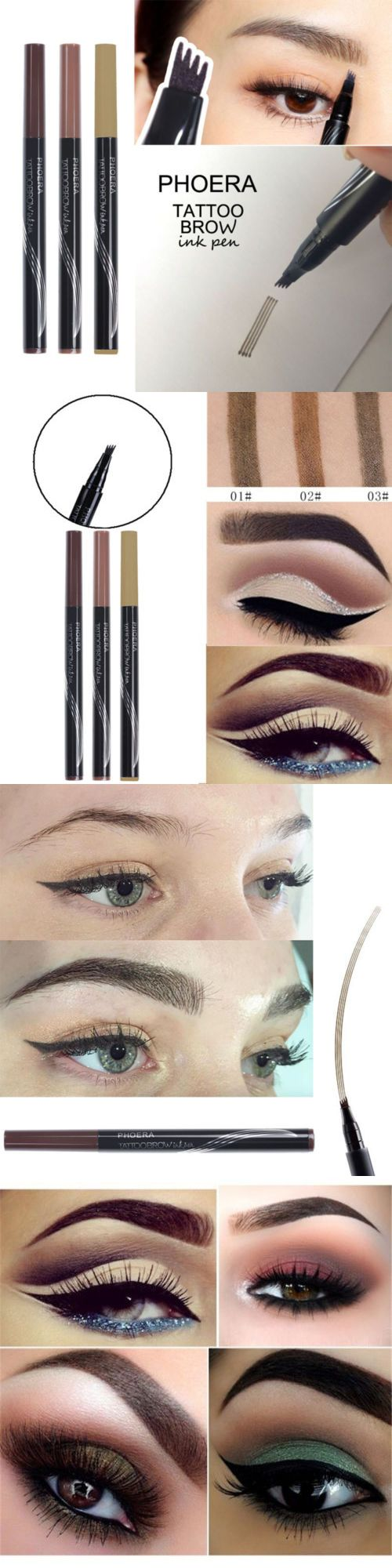 71ad6e95a61 Eyebrow Liner and Definition 78089  2Pcs Patented Microblading Tattoo  Eyebrow Ink Pen Eye Brow Makeup Pencil Sr48 -  BUY IT NOW ONLY   11.05 on  eBay!