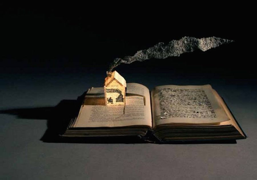 enchanting book sculpturesinspiredbyfairytales-14