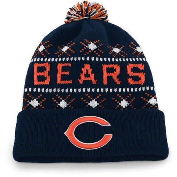 c38beddae Chicago Bears Navy  47 Brand Tip Off Pom Top Cuff Knit Hat ...