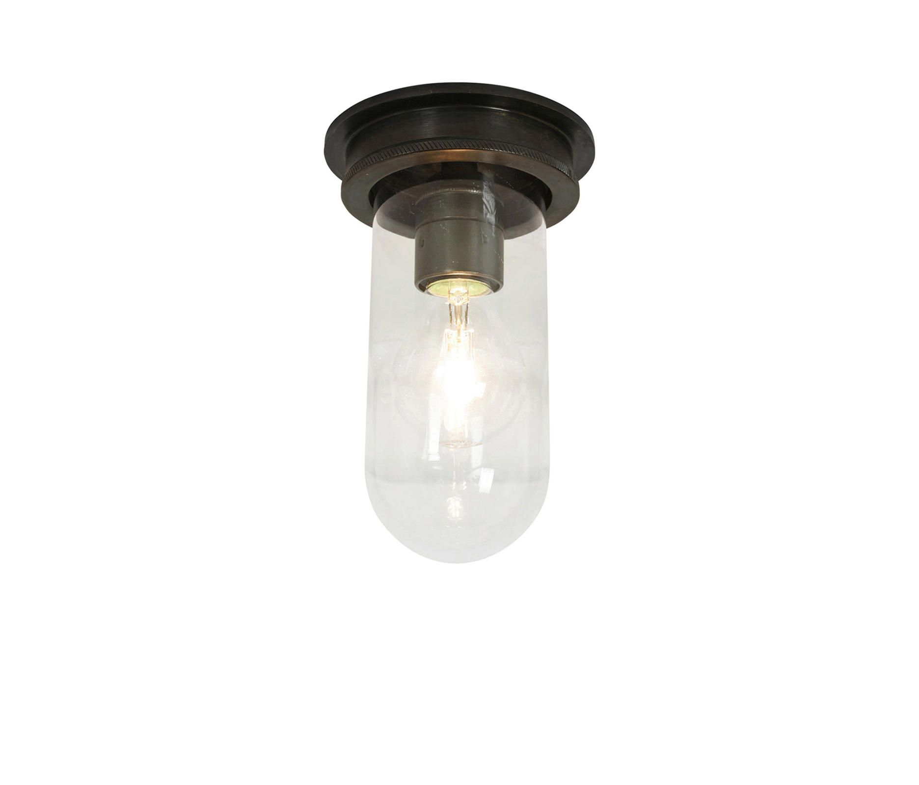 7202 SHIP S PANIONWAY LIGHT WEATHERED BRASS CLEAR GLASS