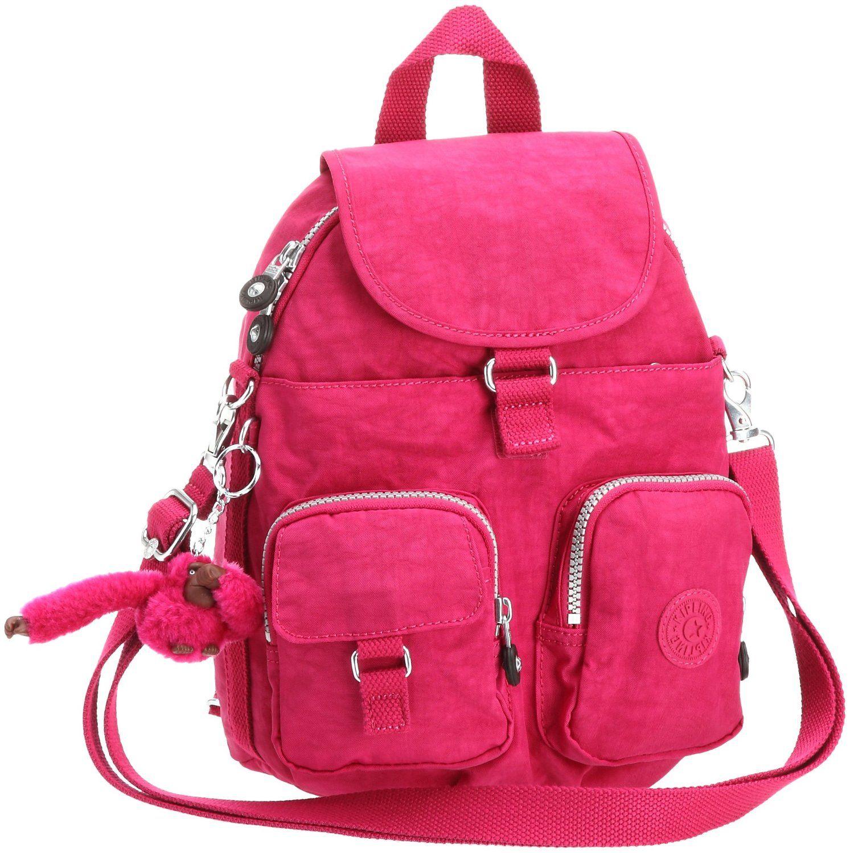 Kipling Women's Firefly N Backpack Carnation Pink (backpack, bags, kipling  weekender bag, organiser)
