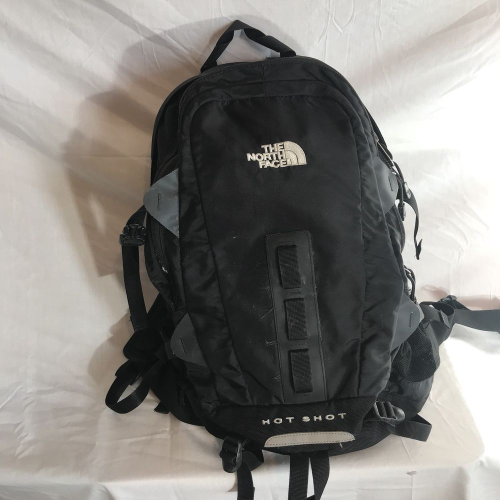 1b218116a The North Face Hot Shot back pack book bag black og limited edition |  Clothing, Shoes & Accessories, Men's Accessories, Backpacks, Bags &  Briefcases | eBay!