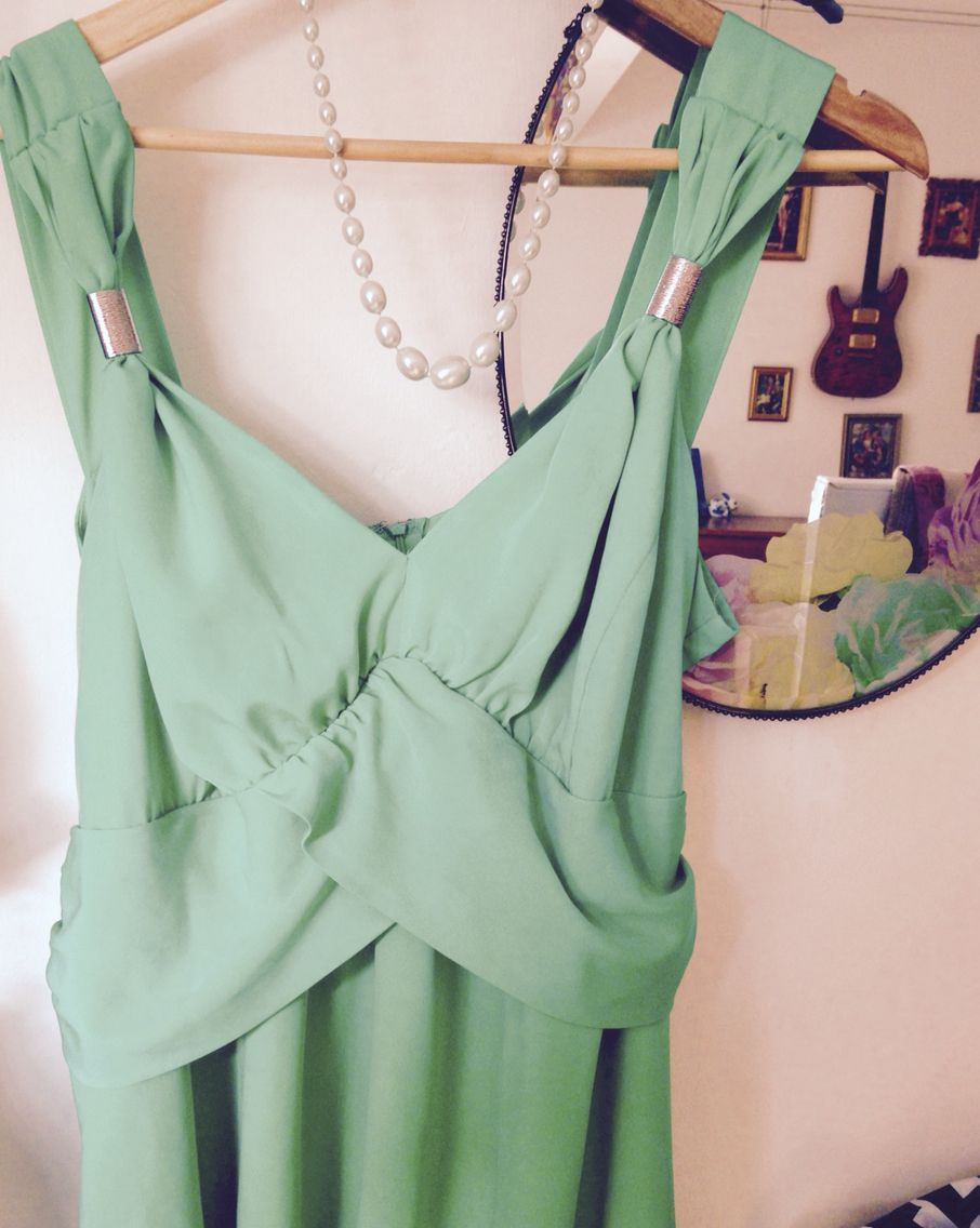 Wedding outfit for Saturday #retroteal #ebayfind for £4 !