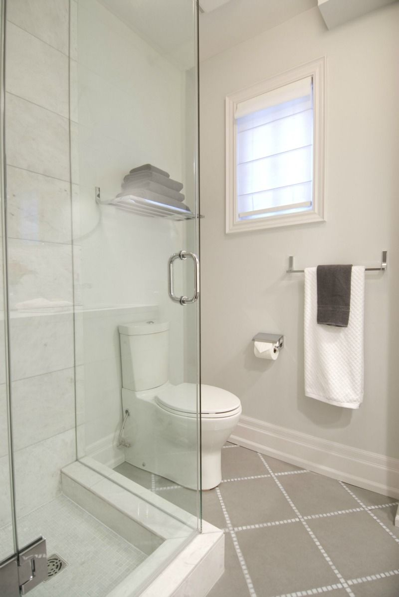 New bathroom with heated floors and glass shower enclosure, HGTV\'s ...