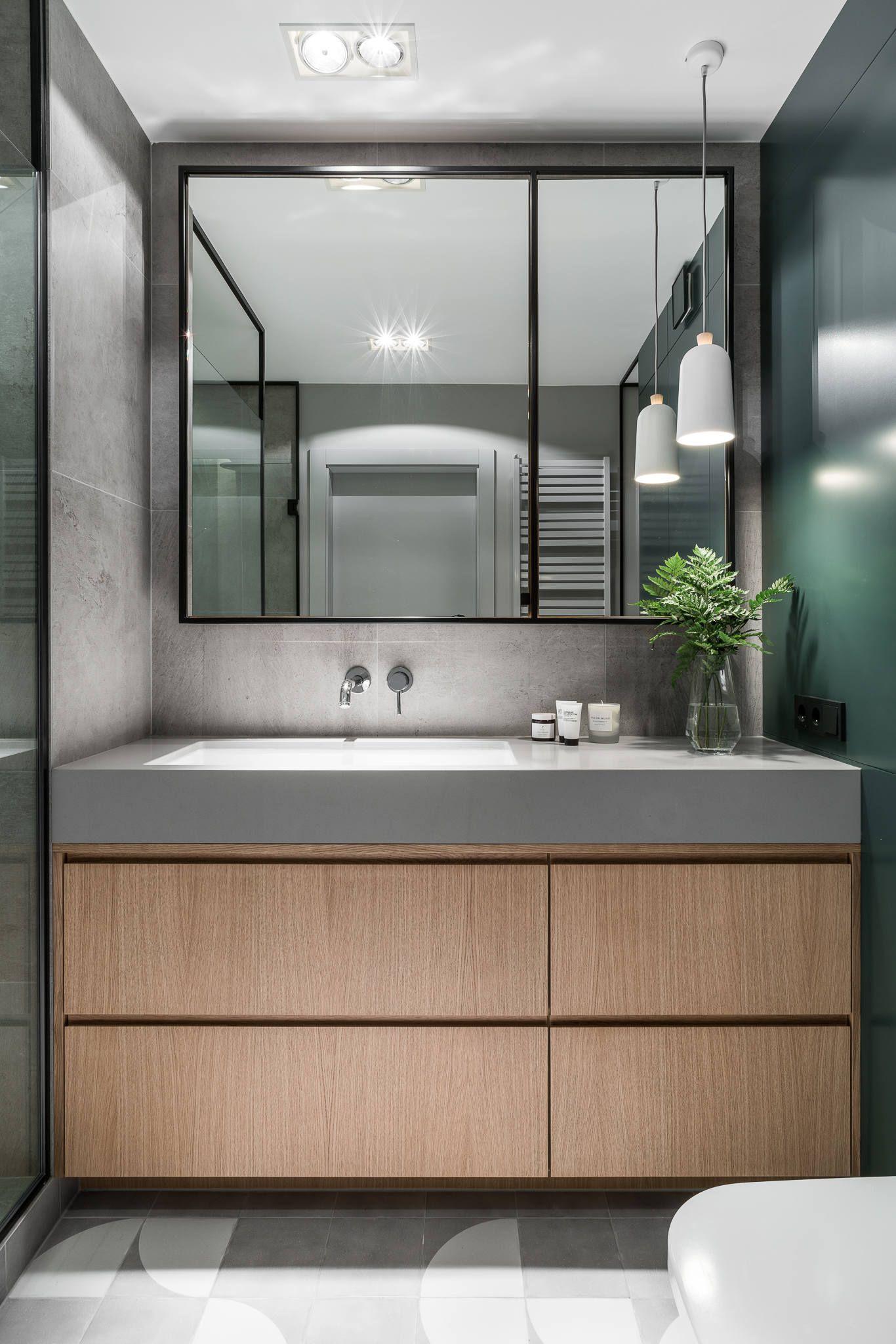 033 Beniowskiego Apartment Raca Architekci Homeadore Badezimmer Dekor Inneneinrichtung Apartments Badezimmer Design