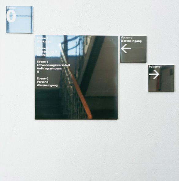 b ro uebele walter knoll signage system and brand land herrenberg 2007 signage. Black Bedroom Furniture Sets. Home Design Ideas