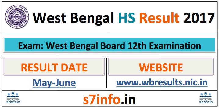 WB HS Result 2017, WBCHSE Result 2017