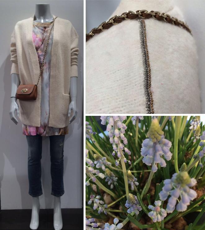 #SS15 #spring I flotte styles fra.. #Heartmade Cardigan #Sand Kjole #VictoriaBeckham Jeans #Mulberry Taske  www.FLOT.nu / www.fashionbox.dk