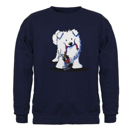 Penguin Sled Samoyed Sweatshirt (dark)
