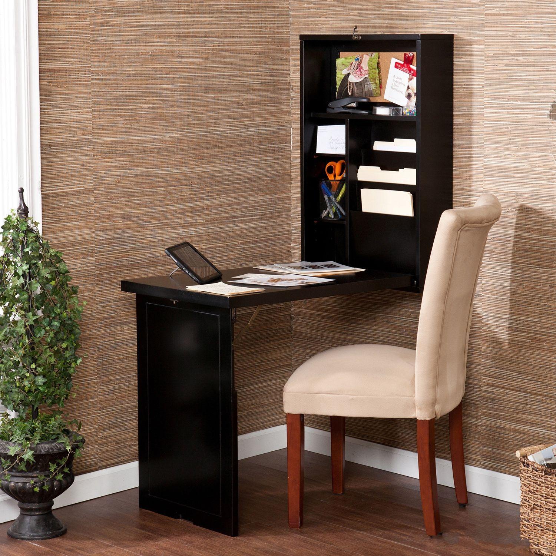 Harper Blvd Murphy Black Fold Out Convertible Desk Size Small