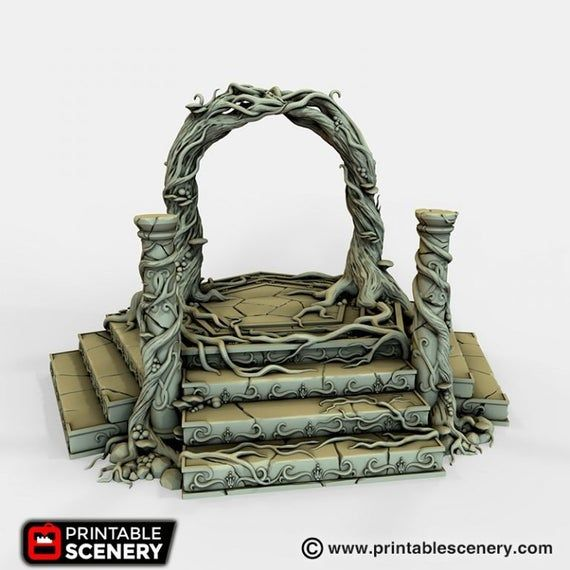 Dwarves, Elves and Demons - Elven Portal 28mm 32mm Wargaming Terrain D&D, DnD, Pathfinder, SW Legion #wargamingterrain