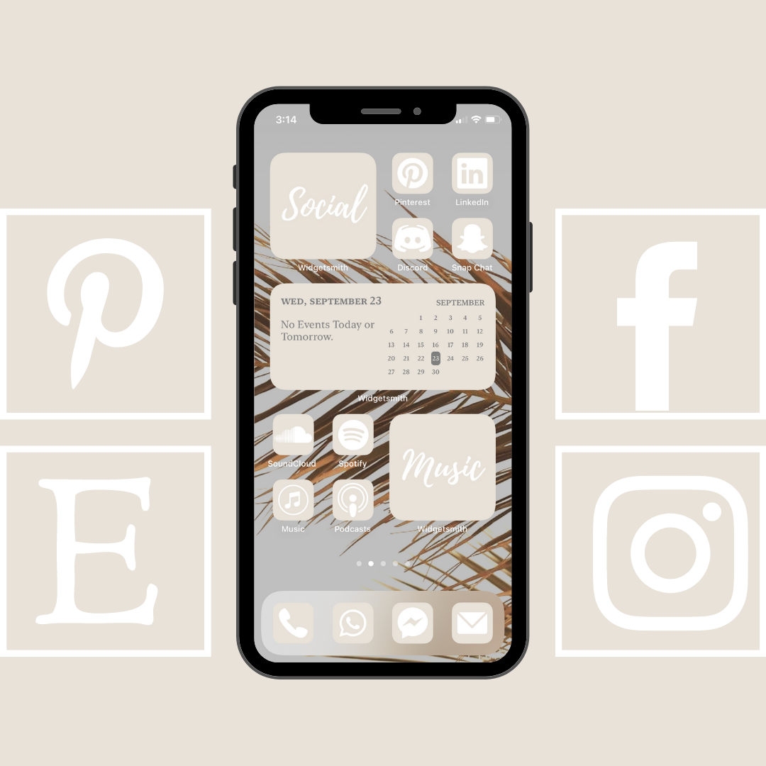 100 Pack Cream Beige App Icons For Customizing Home Screen In Etsy App Icon Homescreen App Covers