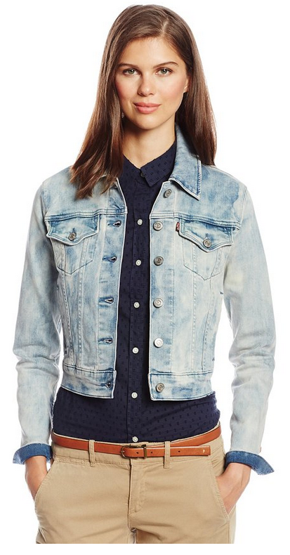 Levi's Juniors Authentic Trucker Jacket   • ✮✮✮✮✮ 187 customer reviews  • 78% Cotton/21% Polyester/1% Elastane  • Button closure  • Machine Wash  • Button-front denim jacket in slim fit featuring button-flap chest pockets. https://twitter.com/TheMarketer2015/status/641881841427984384