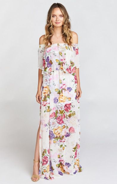 Floral Maxi Dresses for Wedding
