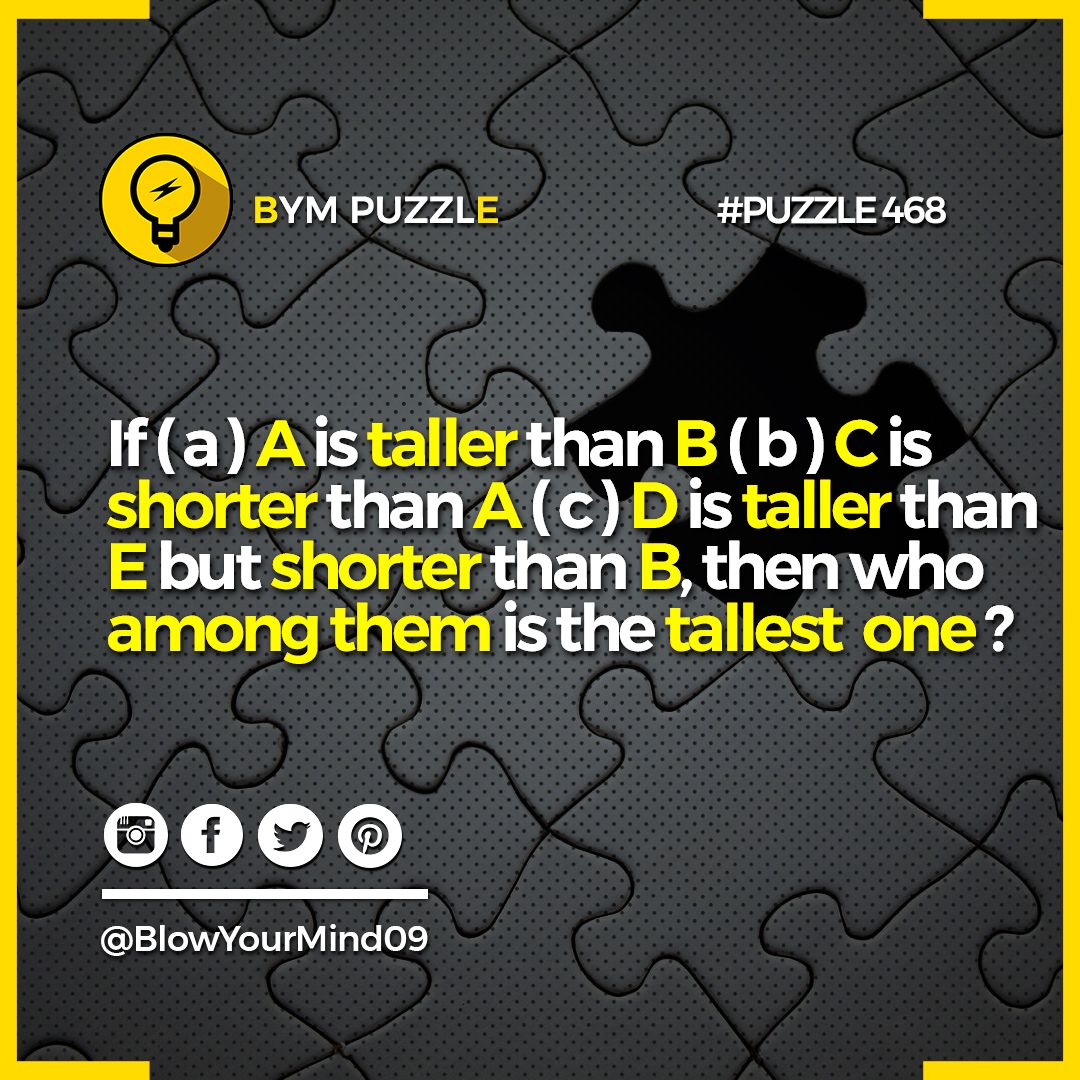 Pin by BlowYourMind on Riddles and Brain Teaser For
