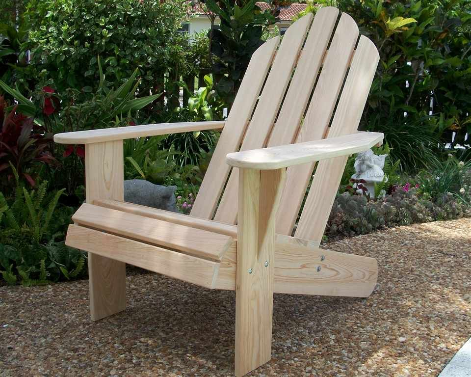 Adirondack Chair Cypress Wood Outdoor garden furniture