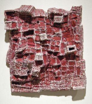 Elisa D'Arrigo  cloth, acrylic paint, thread