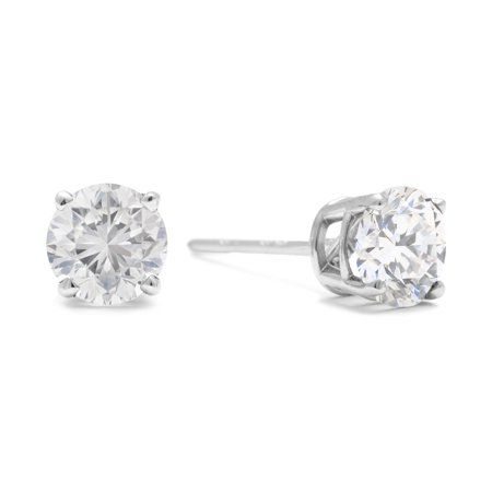 842600be1 1/2 Cttw Genuine Diamond in 14K White Gold with Friction Back in ...