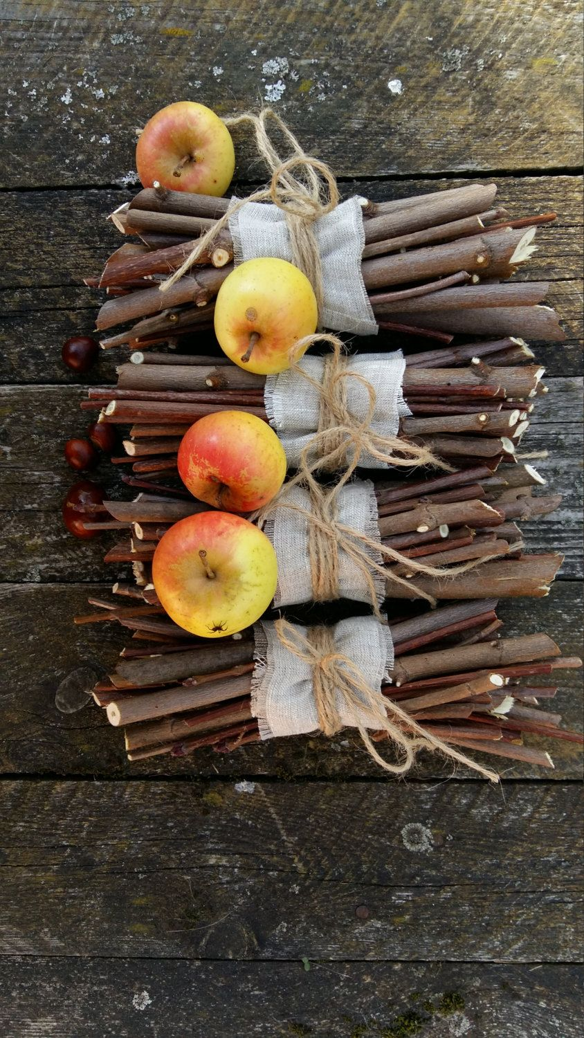 Rustic home decor natural wood twigs sticks maple tree