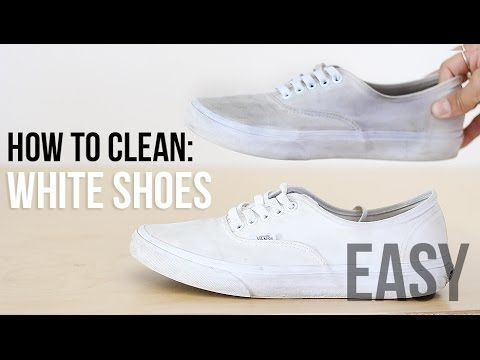 official photos 1a9d4 e86ba How to clean white shoes with baking soda  Vans  Converse  Adidas  Superstars  Nike - YouTube
