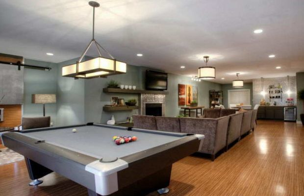 Picture of game room design ideas with pool table also rh pinterest
