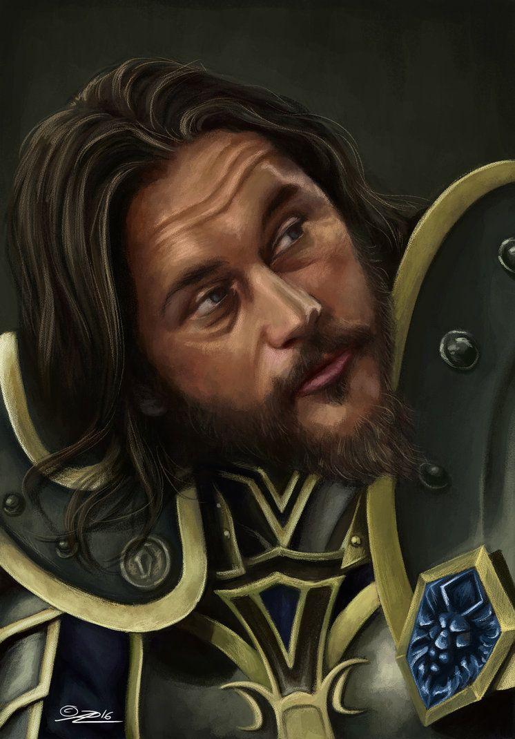 Sir Anduin Lothar Portrait By Muninn85 On Deviantart Portrait Warcraft Viking Art