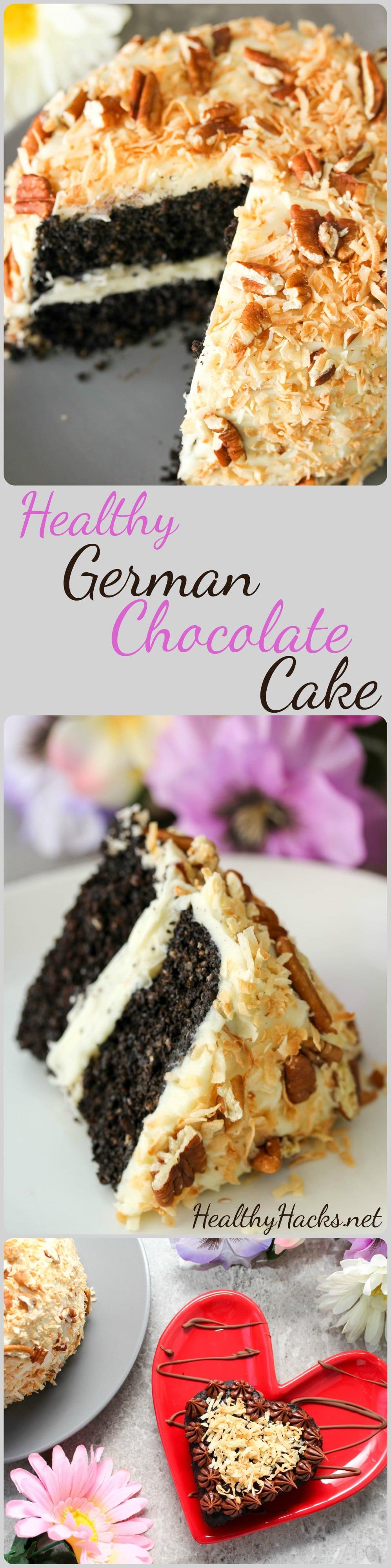 Healthy German Chocolate Cake Vegan; Gluten Free