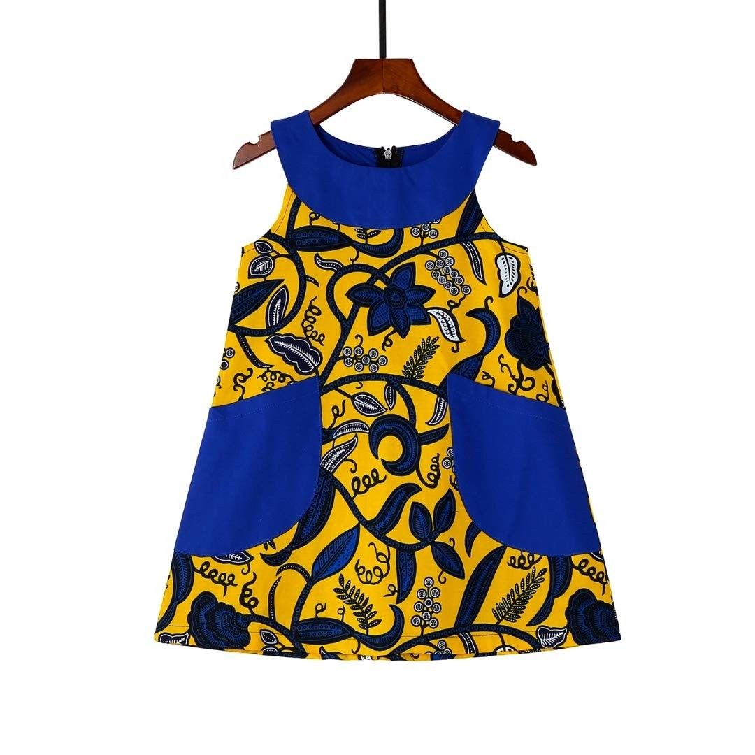 Dresses for Girls with Pockets Baby Girl Dresses Beautiful African Dress for Girls - Yellowbluevines-v765 - CG18IX2H5GG