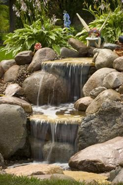Water Features Water Gardens Backyard Ponds By Aquascape Waterfalls Backyard Pond Landscaping Fountains Outdoor