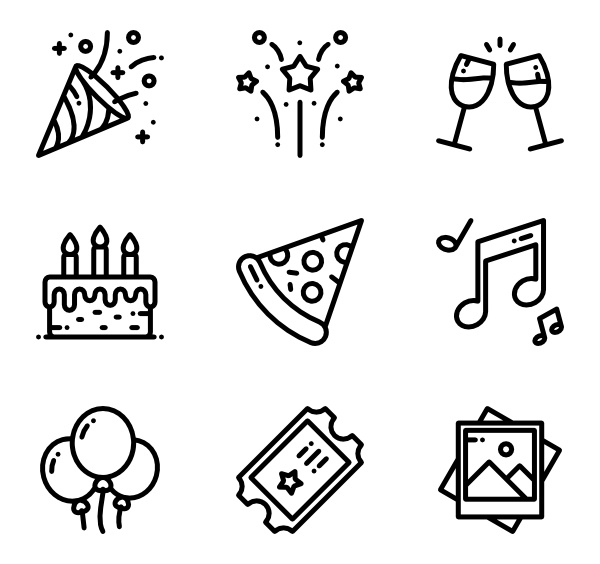 164 Icon Packs Of Events Party Icon Birthday Icon Business Card Icons