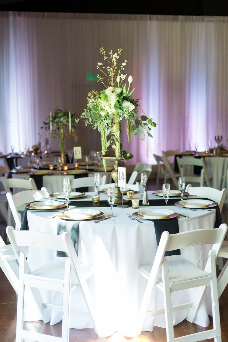 Reception Table Decor Tall Centerpiece | The-Palms-Chico-California-Wedding-Photographer-TréCreative