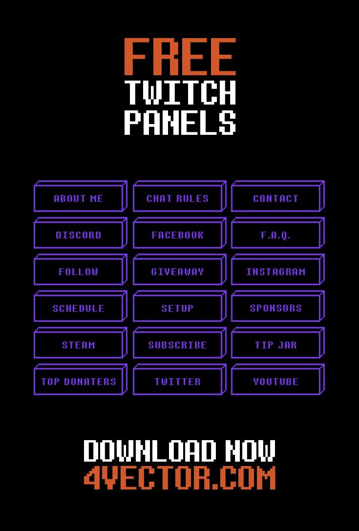 free twitch panels and tutorial on how to make twitch. Black Bedroom Furniture Sets. Home Design Ideas