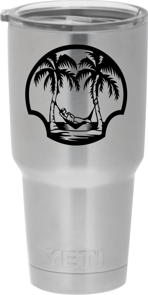 Beach 1 decal sticker for yeti rambler ozark trail rtic orca chaser tumblers