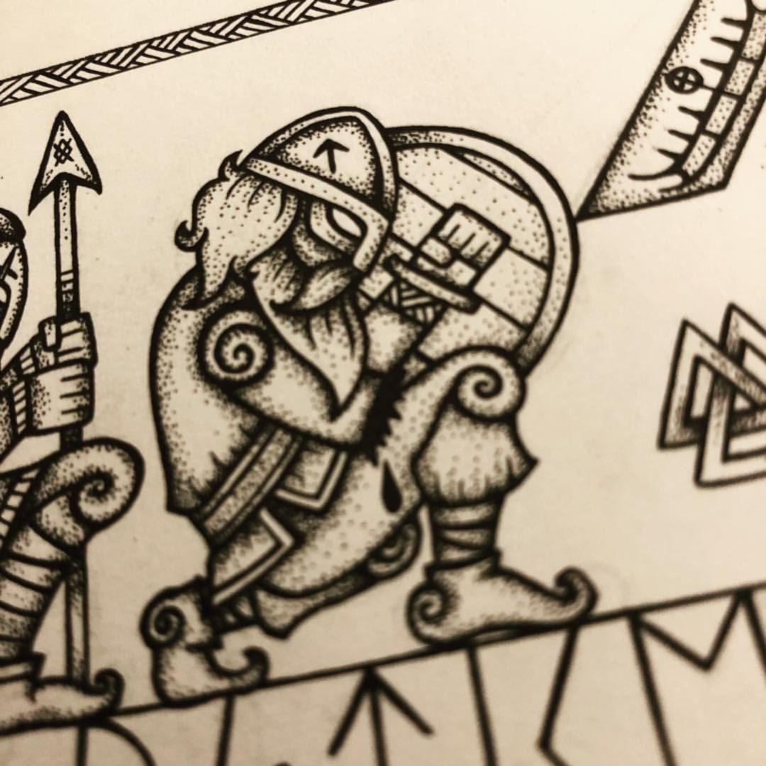 Julie Linnehol On Instagram Tyr God Of War Who Sacrifice Julie Linnehol On Instagram Tyr God Of War Wh In 2020 Norse Tattoo Viking Art Viking Tattoo Symbol