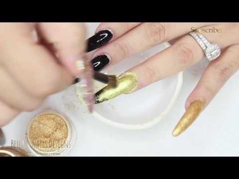 Cómo hago el esperado Efecto Cromo para uñas con pigmentos (haciendo pruebas) - YouTube