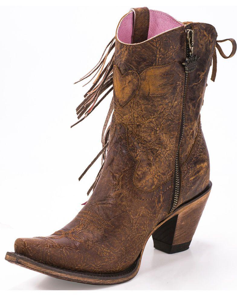 b1c8ea9adcf Junk Gypsy by Lane Women's Brown Spirit Animal Ankle Boots - Snip ...