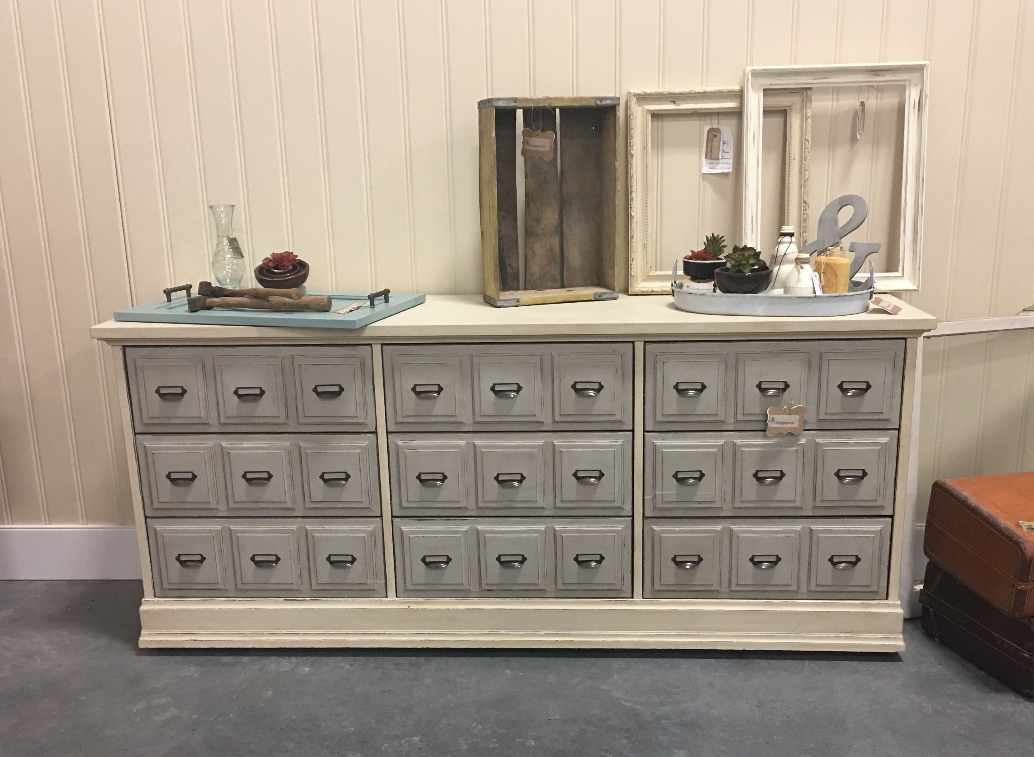 Apothecary Style Dresser Painted Annie Sloan Old Ochre French Linen White Before And After