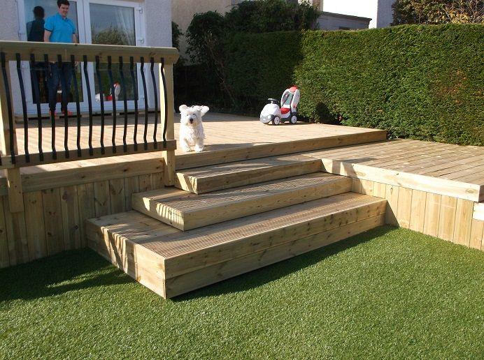Artificial grass lawn monoblock driveways ideas glasgow for Garden decking glasgow