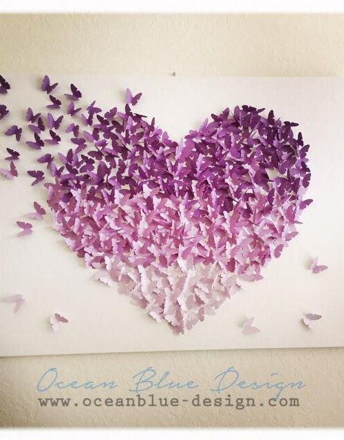 Butterfly Canvas Wall Art Sweet Design Collection Art For Your Beautiful Decoration Room Ideas Omb 3d Butterfly Wall Art Butterfly Wall Art Girls Room Wall Art