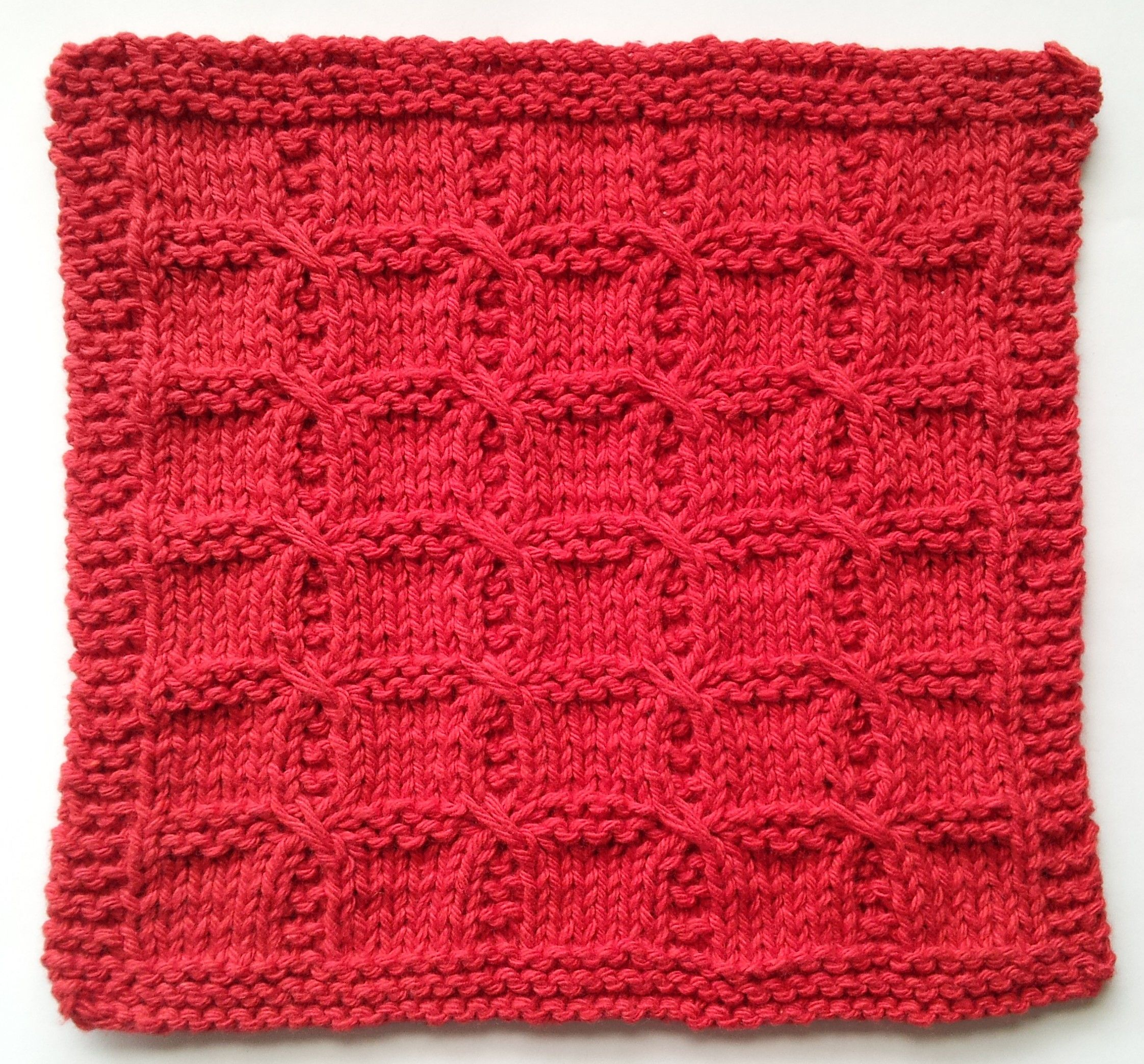 Swish with a Twist knitted washcloth pattern. | Knitting | Pinterest ...