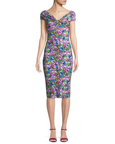 e5c9d468 Chiara Boni La Petite Robe Marycarmen Floral Short-Sleeve Dress ...