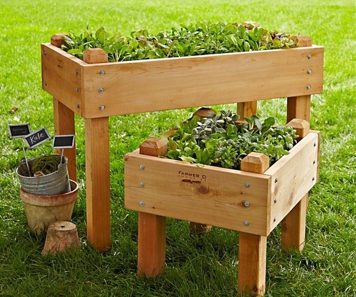 10 Easy Pieces Wooden Elevated Planters Vegetable 400 x 300