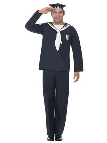 HMS Naval Seaman - Adult Costume front  sc 1 st  Pinterest & HMS Naval Seaman - Adult Costume front | HMS PINAFORE | Pinterest